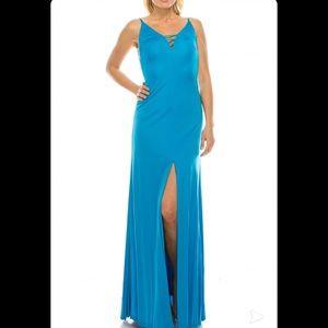 Aidan Mattox Electric Blue Strappy evening dress